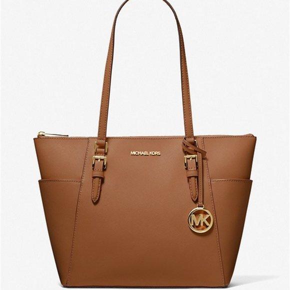 🆕 NWT ✨ MK Charlotte Large Saffiano Leather Tote